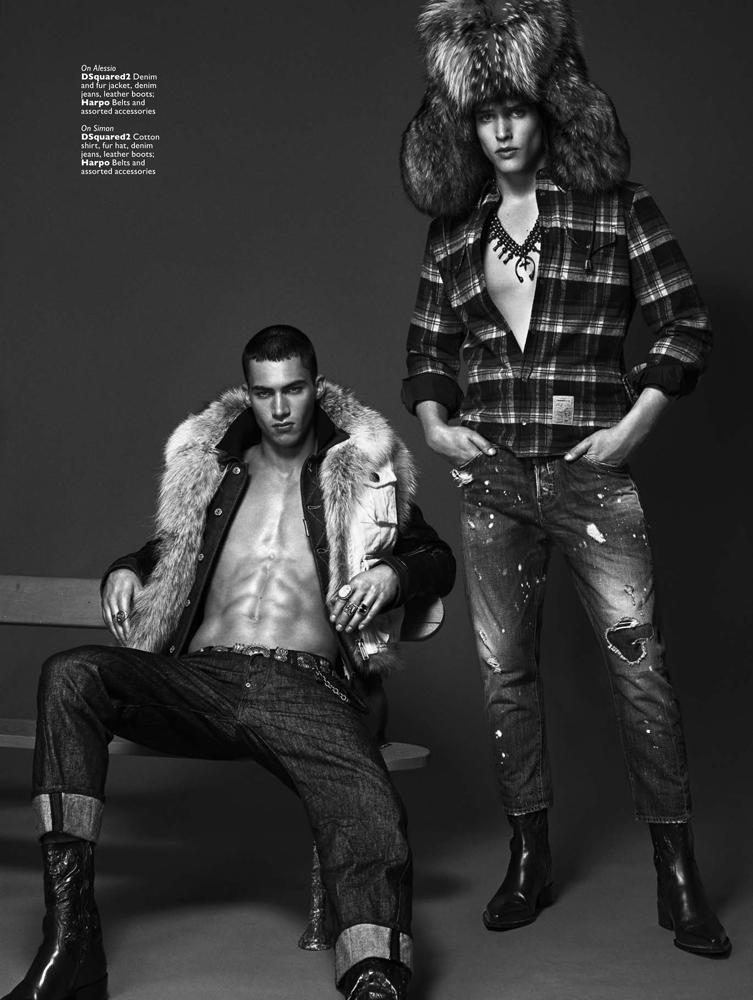 Alessio Pozzi & Simon Van Meerveene Men's Folio Magazine